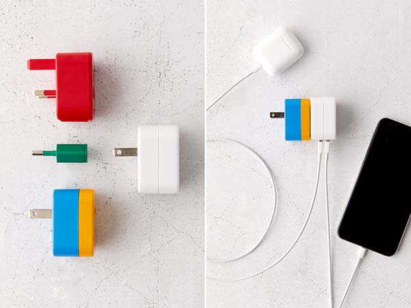 Flight 001 5-In-1 Travel Adapter with Dual USB Ports