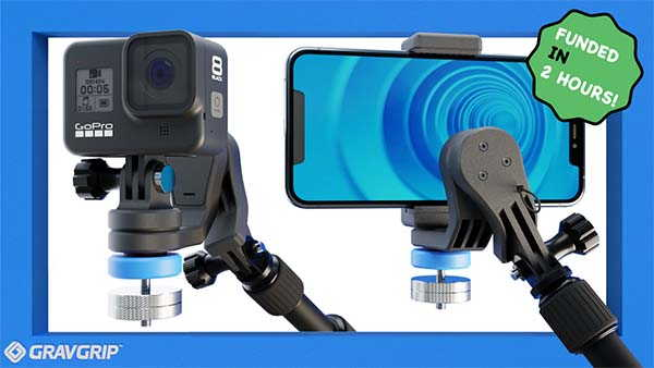 GravGrip Hydraulic Camera Stabilizer with Battery Free Design
