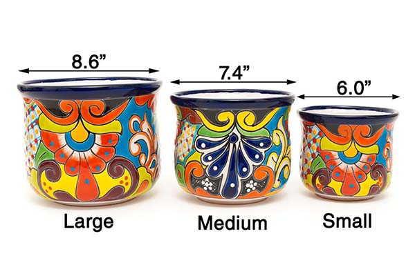 Handmade Mexican Talavera Ceramic Planter