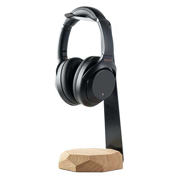 Handmade Personalized Wooden Headphone Stand with Wireless Charging Pad
