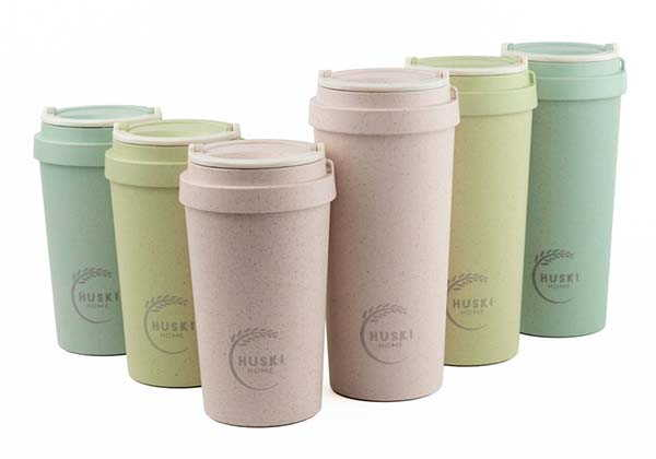 Handmade Reusable Cup Made from Rice Husks