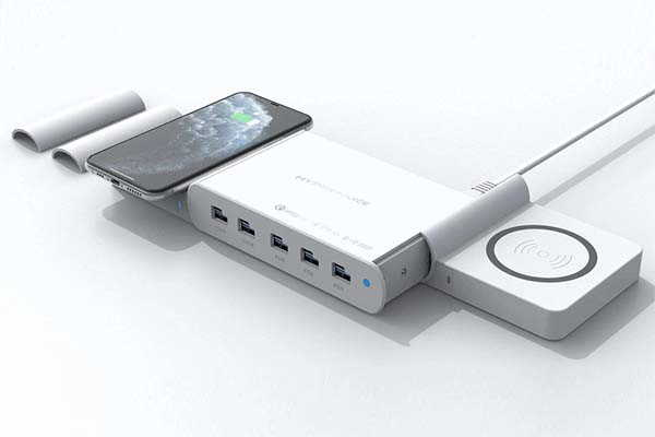 HyperJuice 110W Ultimate Wireless Charging Station with 10 Ports