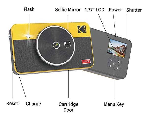Kodak Mini Shot 2 Retro Instant Camera with 4Pass Technology