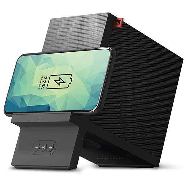 Sharper Image Wireless Charging Dock with Bluetooth Speaker