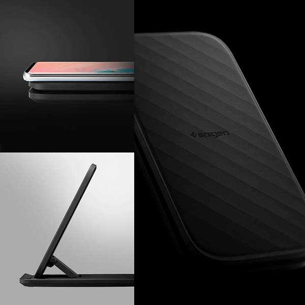 Spigen SteadiBoost Flex Convertible Wireless Charging Stand Supports Up to 15W Output