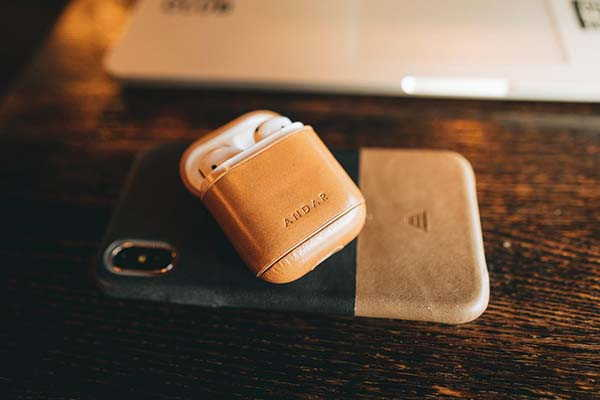 The Capsule Handmade AirPods Leather Case