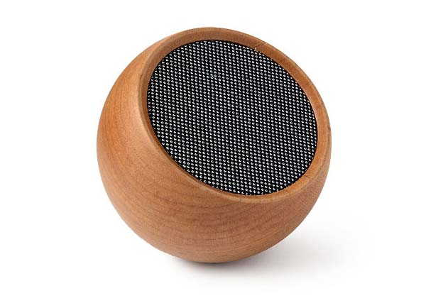 The Portable Wooden Bluetooth Speaker Doubles as a Remote