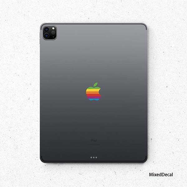 The Rainbow Apple Logo iPad Skin Brings Some Nostalgia onto Your iPad