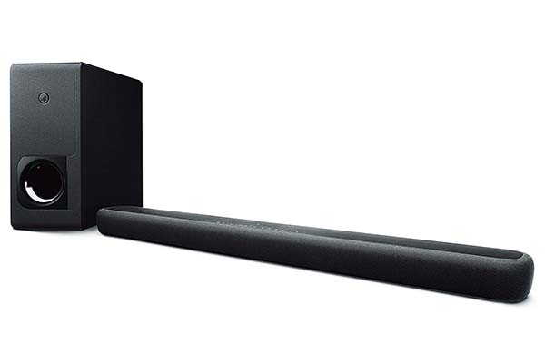 Yamaha Audio YAS-209BL Bluetooth Sound Bar with Alexa Built-in and Wireless Subwoofer