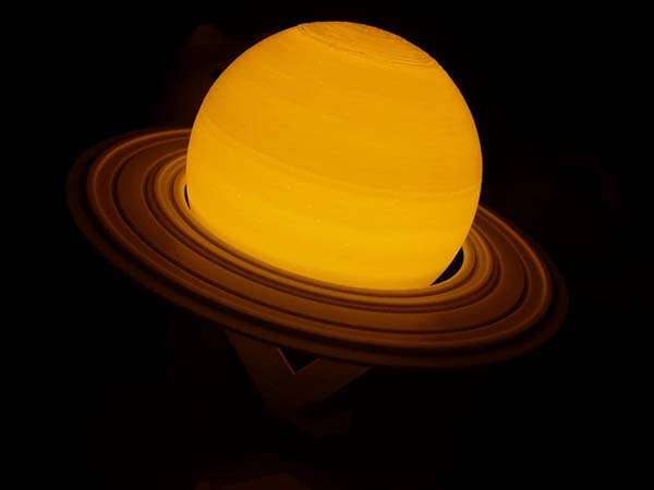 3D Printed Saturn Planet LED Night Lamp