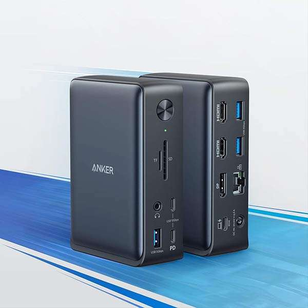 Anker PowerExpand 13-In-1 USB-C Dock with DisplayPort and Dual HDMI Ports