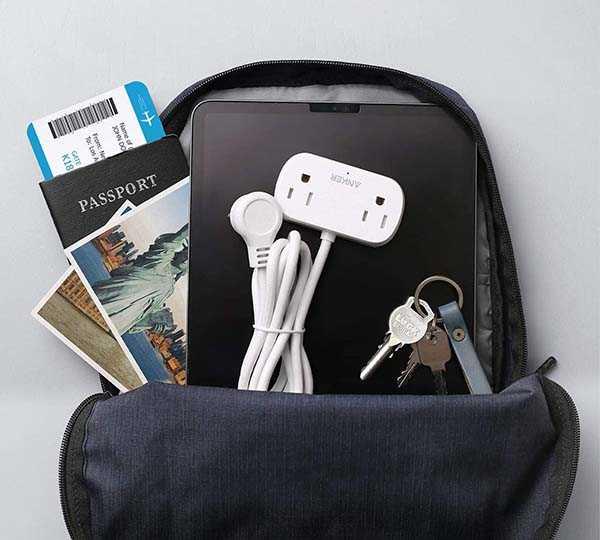 Anker PowerExtend Mini 2 Portable Power Strip with 2 USB Ports