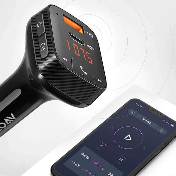 Anker Roav SmartCharge T2 USB Car Charger and Bluetooth FM Transmitter