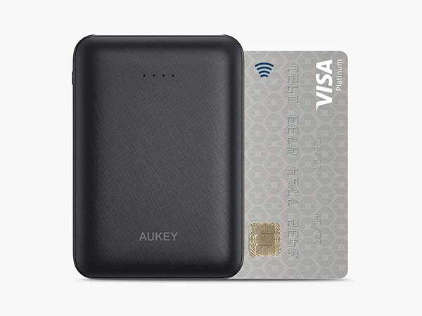 Aukey PB-N66 Credit-Card Sized Portable Power Bank with Dual USB Output