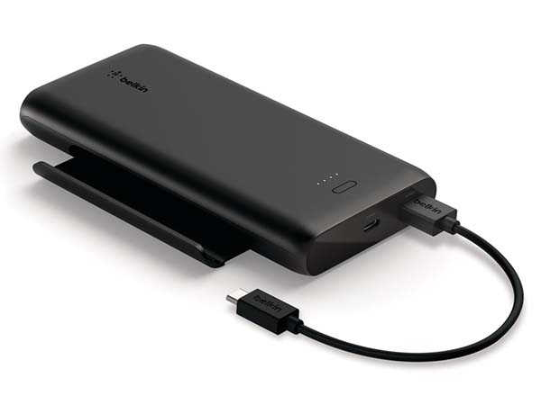 Belkin BoostCharge 10K Portable Power Bank with Retractable Phone Stand
