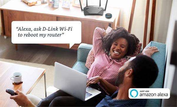 D-Link DIR-1950-US AC1900 Dual-Band Smart WiFi Router Supports Alexa and Google Assistant