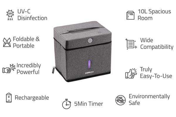 GooBox Foldable Portable UV-C Sanitizer with 10L Capacity