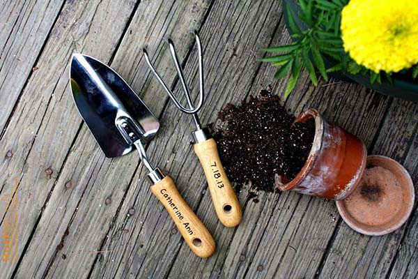 Handmade Garden Tool Set with a Custom Design