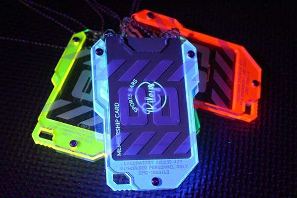 Handmade ID Card Holder Inspired by Cyberpunk Keycard