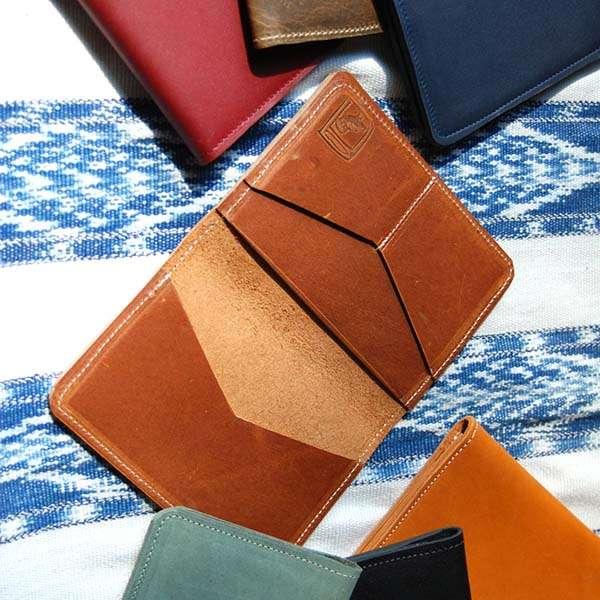 Handmade Leather Passport Wallet with Personalization