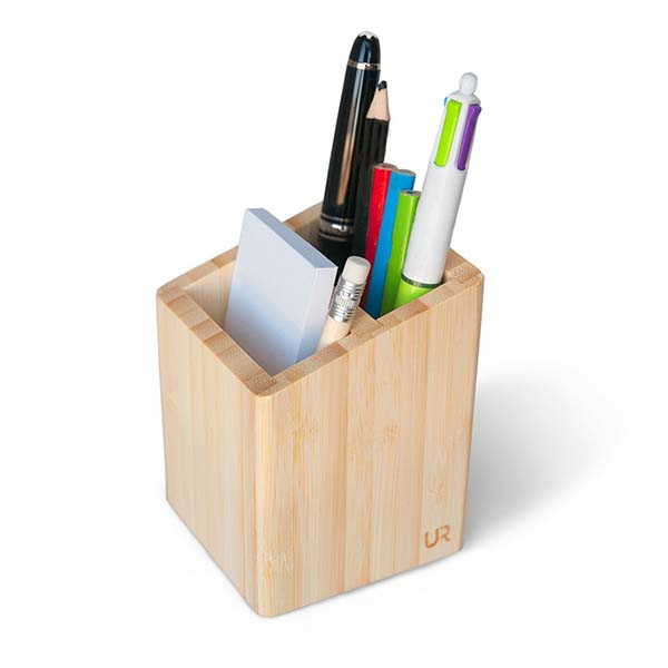 Handmade Minimal Wooden Desk Pen Holder and Organizer