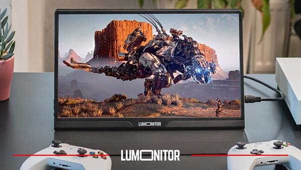 Lumonitor 4K Portable Touchscreen Monitor with Stereo Speakers