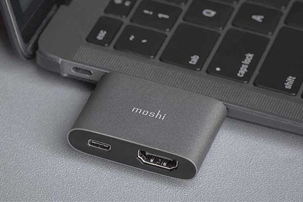 Moshi USB-C to HDMI Adapter with up to 60W Power Delivery