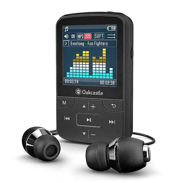 Oakcastle MP100Mini Bluetooth MP3 Player with FM Radio