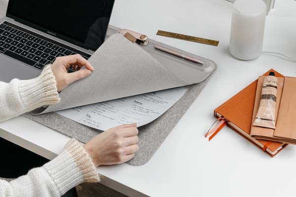 Orbitkey Leather Desk Mat with Magnetic Cable Holders