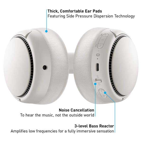 Panasonic RB-M700B Noise Cancelling Bluetooth Headphones with 3-Level Bass Reactor