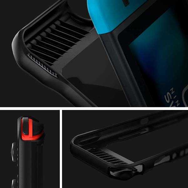 Spigen Rugged Armor Nintendo Switch Case with Hand Strap