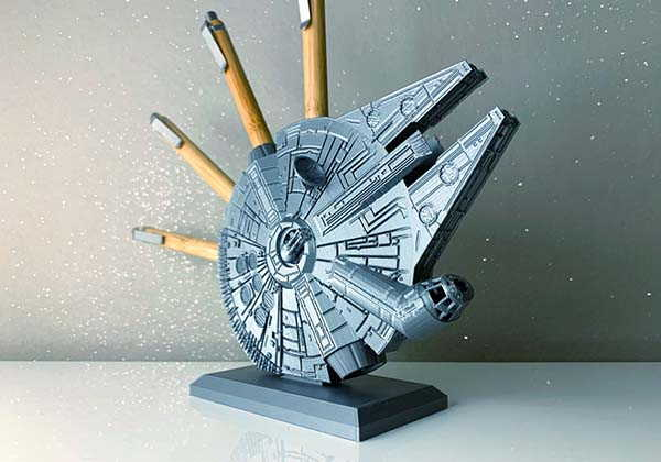 Star Wars Millennium Falcon 3D Printed Pen Holder