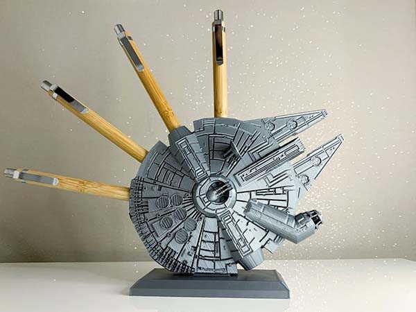 Star Wars Millennium Falcon 3D Printed Pen Holder