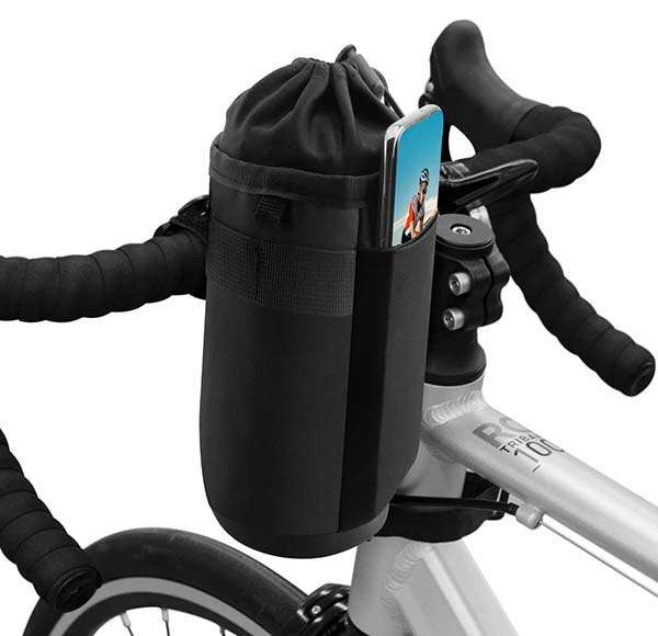 Suruid Bicycle Water Bottle Holder with Insulated Aluminum Foil Interior