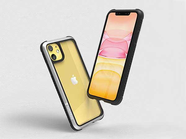 SwitchEasy Glass Rebel iPhone 11 Case with Tempered Glass Back