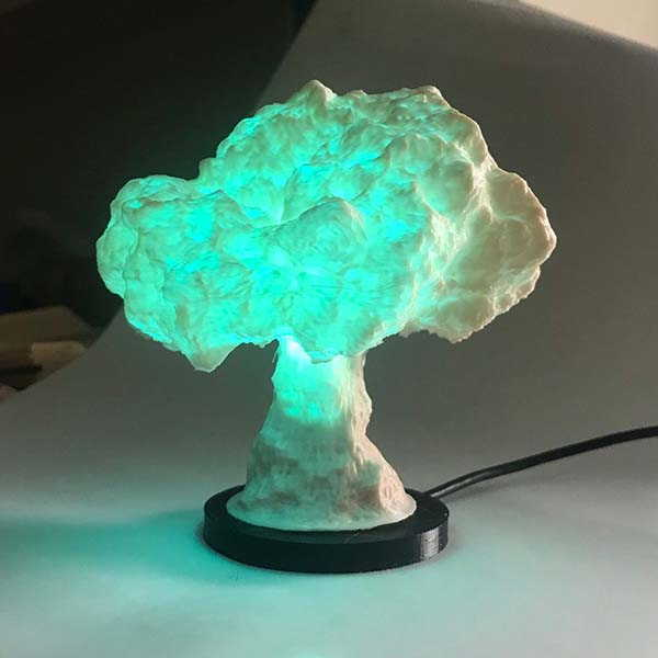 The 3D Printed LED Night Light Inspired by Mushroom Cloud