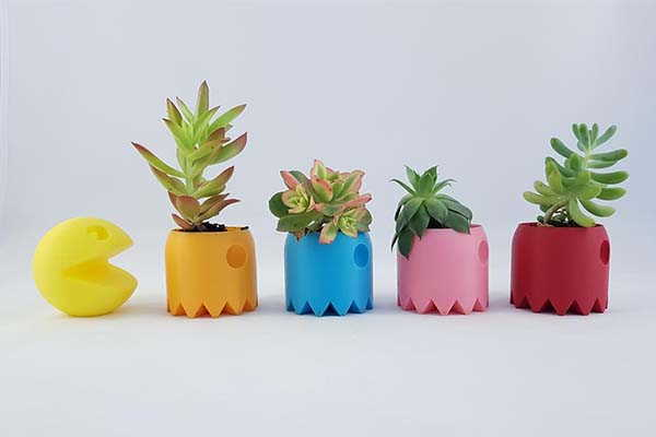 The 3D Printed Succulent Planters Inspired by Pac-Man