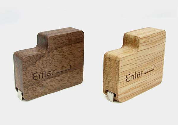 The Handmade Wooden Tape Measure Inspired by Enter Key