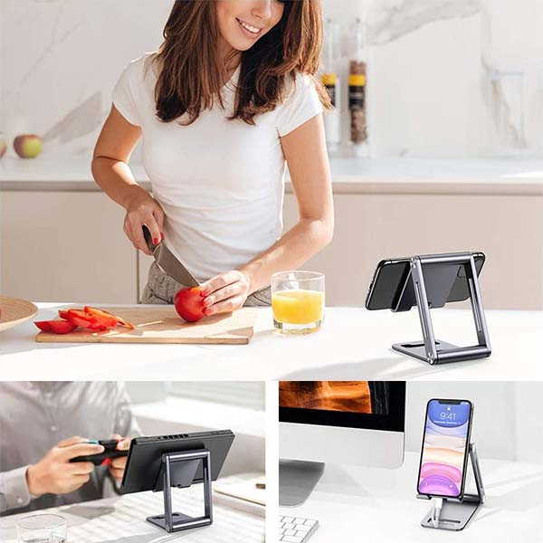 UGREEN Aluminum Phone Desk Holder with Foldable Design