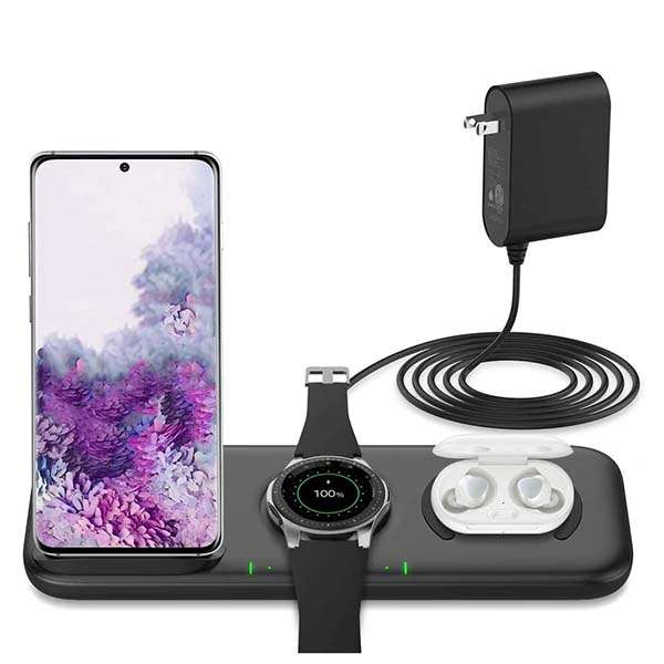 Yootech 3 in 1 Fast Wireless Charging Station with Adapter