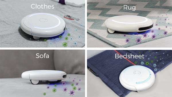 Z4E0 Auto UV-C Sterilizer and Vacuum Cleaning Robot for Beds, Blankets and More