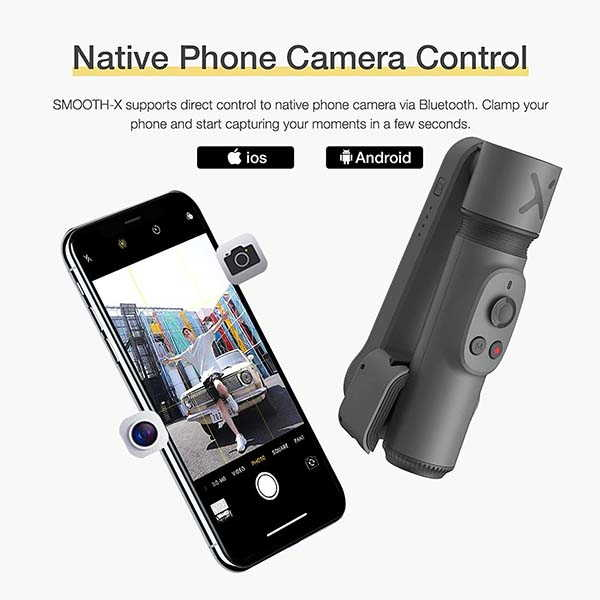Zhiyun Smooth X Phone Gimbal Stabilizer with Bluetooth Selfie Stick