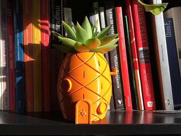 3D Printed Planter Looks Like Spongebob's House