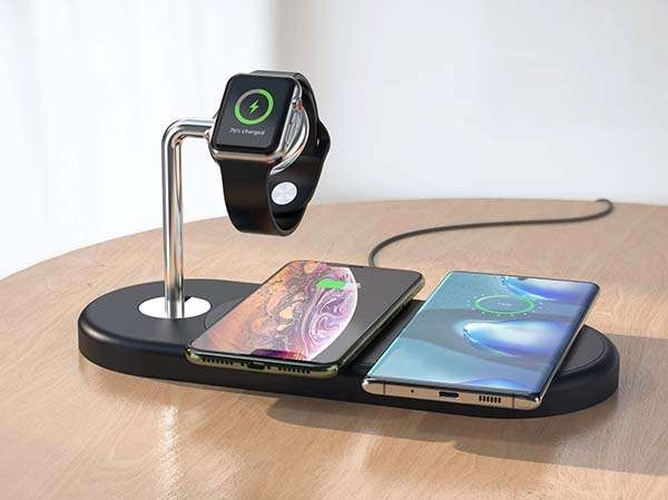 Abkul 4-In-1 Wireless Charging Station with 30W PD Adapter