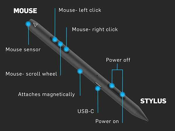 Adonit Note-M Stylus with Full Mouse Functionality