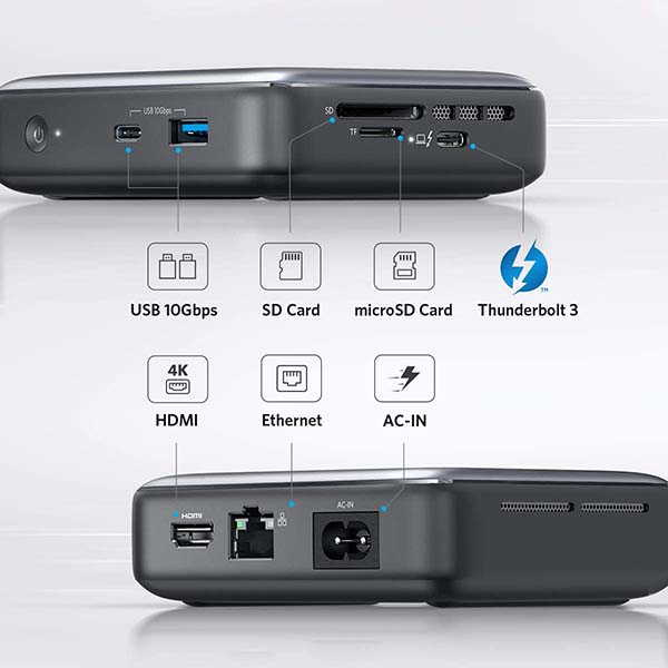 Anker PowerExpand 7-In-1 Mini Thunderbolt 3 Docking Station with Up to 45W Output