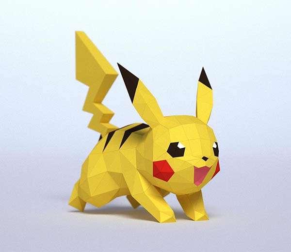 DIY 3D Pokemon Papercraft Models