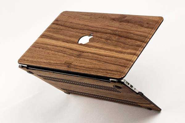 Handmade MacBook Wooden Case with Ventilation Opening Design