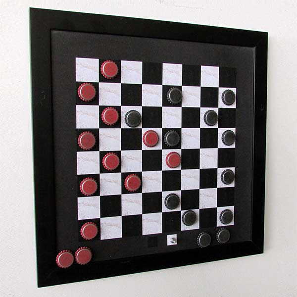 Handmade Magnetic Checkers Set with Included Mounting Hangers