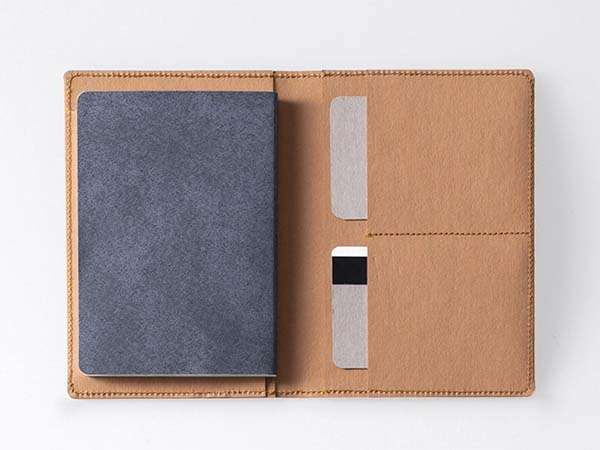 Handmade Washable Paper Travel Wallet with 2 Passport Pockets
